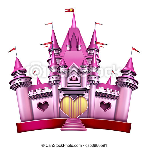 Pink Princess Castle - csp8980591