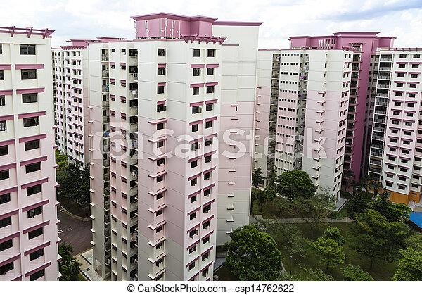 Pink residential estate - csp14762622