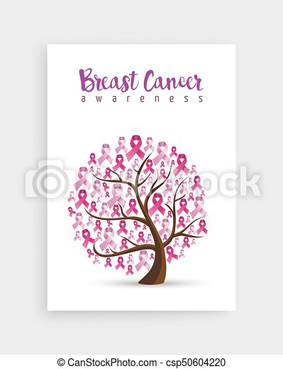 Pink Ribbon Tree For Breast Cancer Awareness Breast Cancer