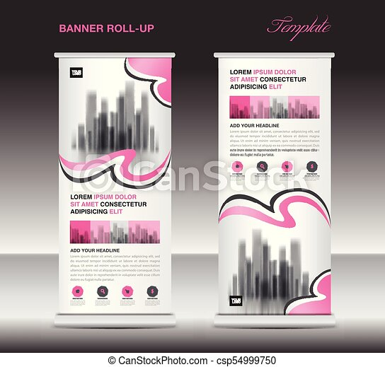 pink roll up banner template stand display x banner j flag pull