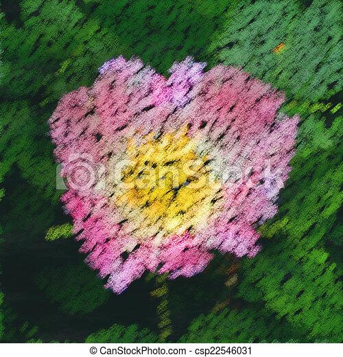 Pink rose chalk image generated background - csp22546031
