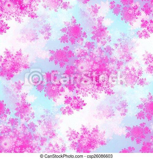 Pink rosebuds seamless pattern - csp26086603