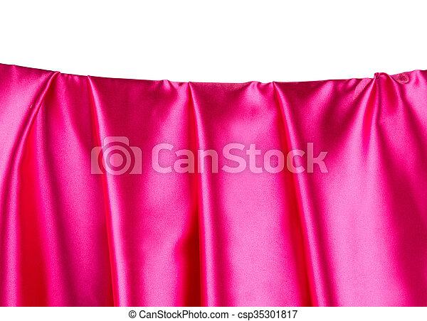 Pink satin. - csp35301817