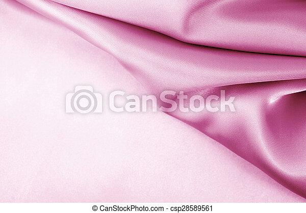 Pink satin silk - csp28589561