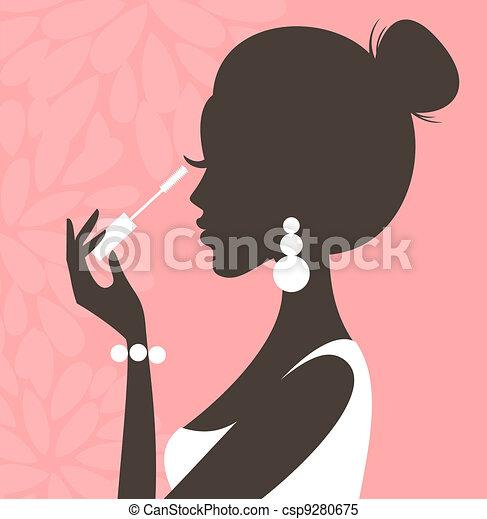 (pink, series), mascara - csp9280675