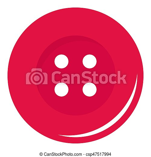 Pink sewing button icon isolated - csp47517994