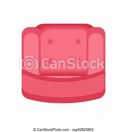 pink sift armchair icon vector illustration arm chair top view42 chair