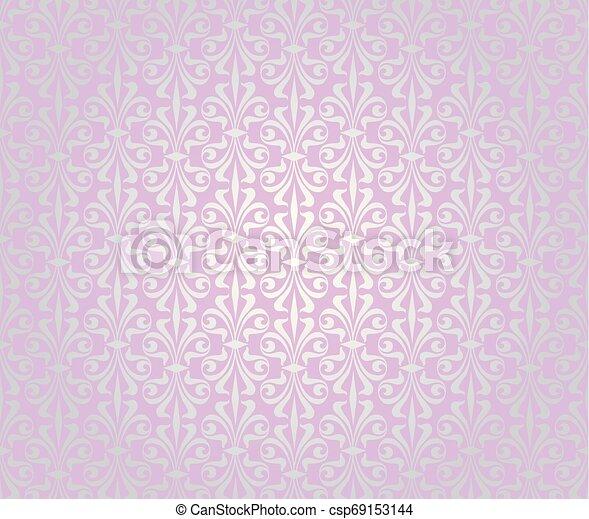 Pink Silver Vintage Wallpaper Background Design