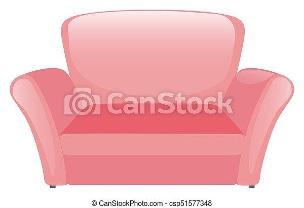 Pink Sofa On White Background   Csp51577348
