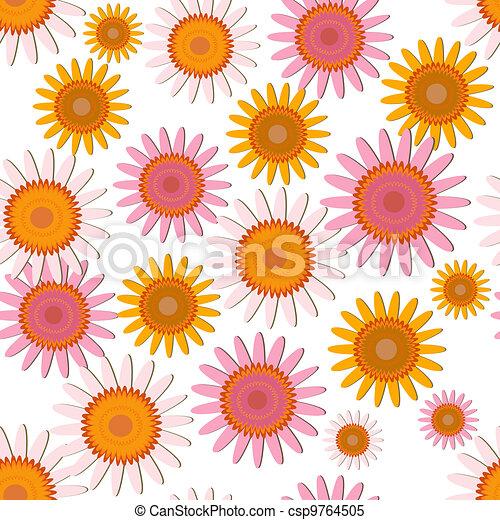 pink soft floral pattern - csp9764505