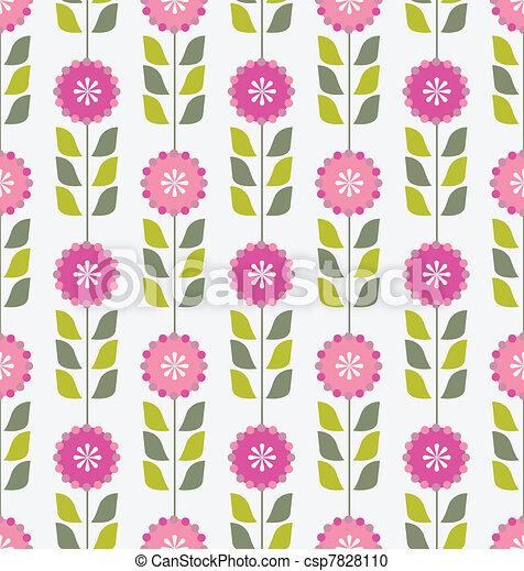 Pink spring flowers pattern seamless pink spring or summer pink spring flowers pattern csp7828110 mightylinksfo
