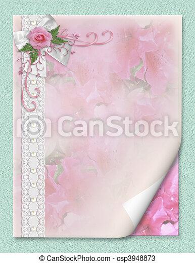 Pink Stieg Hochzeitskarten Rosa Geburstag Umrandungen Raum