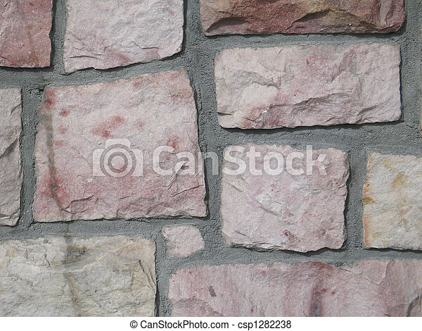 pink stone wall background - csp1282238