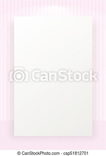 Pink Striped Line Pattern Wallpaper With White Space Background