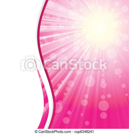 Pink sunshine banner - csp6348241