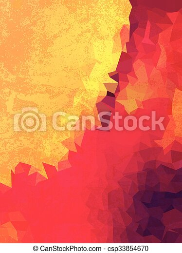 pink triangles and yellow grudge texture