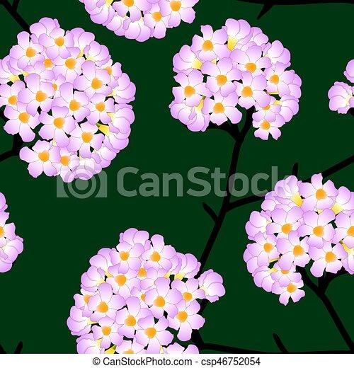 Pink trumpet flower on green background vector illustration mightylinksfo
