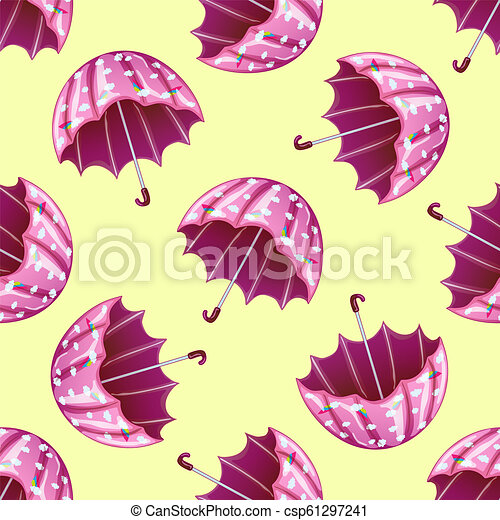 photo regarding Umbrella Pattern Printable Free identified as Red umbrella inside of a vector style and design isolated. Seamless heritage behavior.