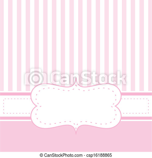 Pink vector baby card or invitation pink vector card clip art pink vector baby card or invitation stopboris Images
