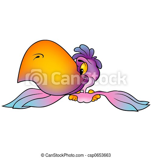 Pink-violet Parrot - csp0653663