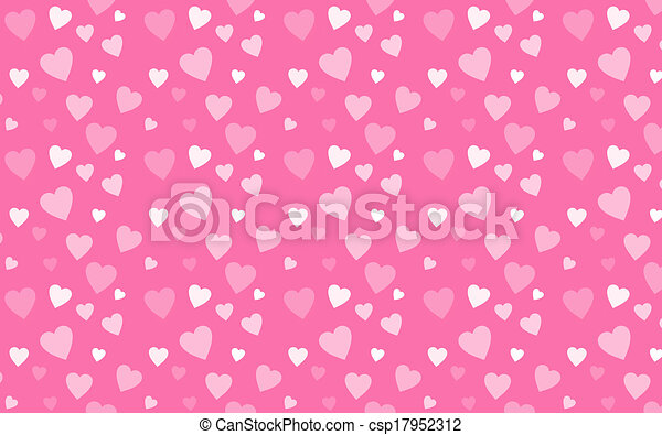 Pink Wallpaper With White Hearts