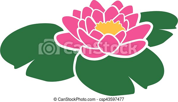 pink water lily vectors illustration search clipart drawings and rh canstockphoto com water lily pond clipart water lily clipart black and white