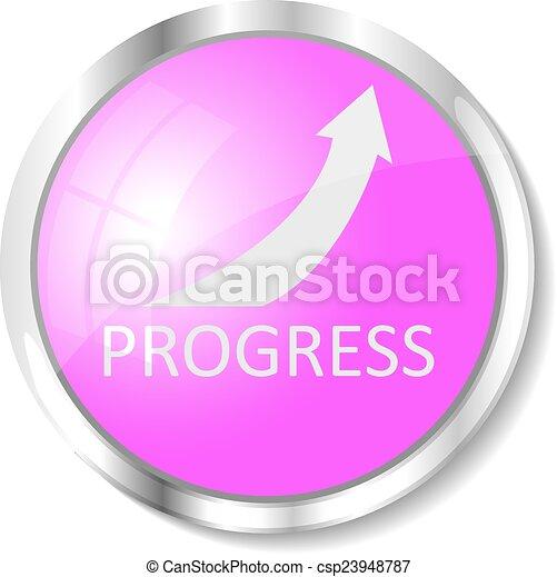 Pink web button - csp23948787