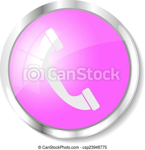 Pink web button - csp23948775
