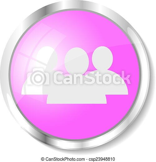 Pink web button - csp23948810