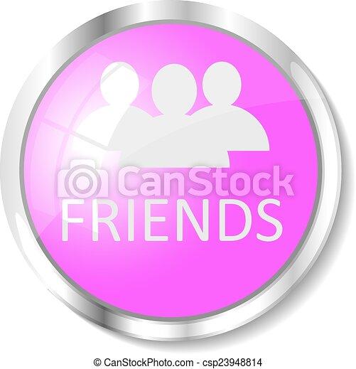 Pink web button - csp23948814