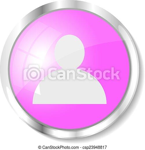 Pink web button - csp23948817