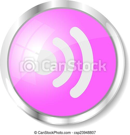 Pink web button - csp23948807