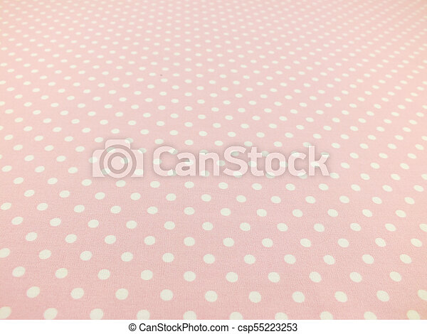 pink with white polka dot background - csp55223253