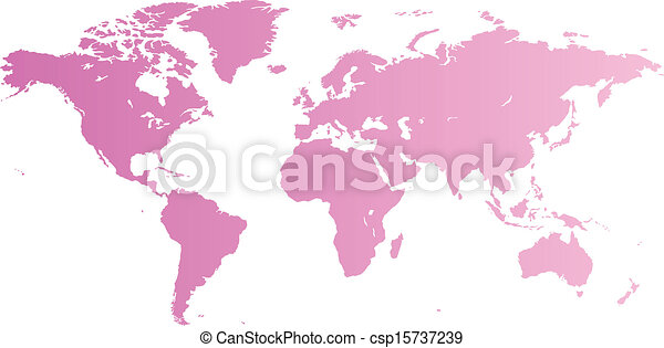 Pink world map high quality pink vector map of the world vectors pink world map csp15737239 gumiabroncs Image collections