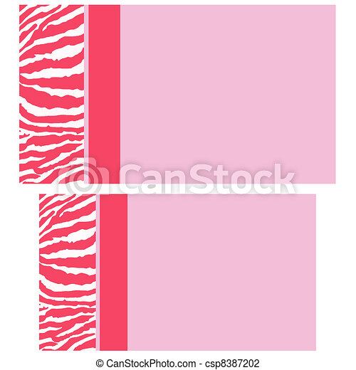 Pink zebra business cards zebra business cards clip art search pink zebra business cards csp8387202 colourmoves