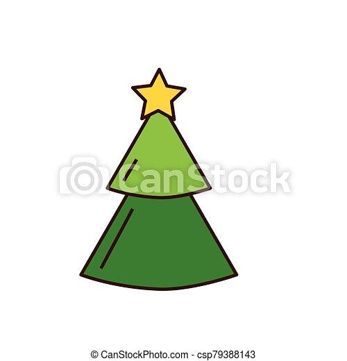 pino, icono, árbol de navidad, alegre - csp79388143