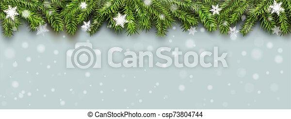pino, nieve, árbol de navidad, plano de fondo - csp73804744