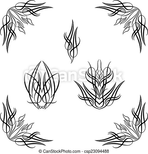 pinstripe graphics corner vinyl ready vector art rh canstockphoto com Racing Pin Stripes Clip Art Scroll Line Clip Art