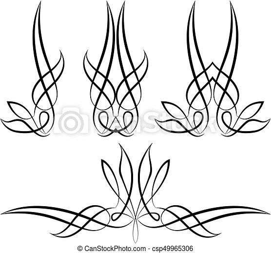 pinstripe graphics vinyl ready vector art rh canstockphoto com Pinstripe Designs for Motorcycles Von Dutch Pinstripe Designs