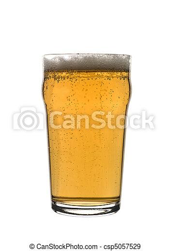 Pint of lager - csp5057529