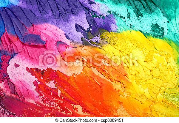 pintado, abstratos, acrílico, fundo - csp8089451