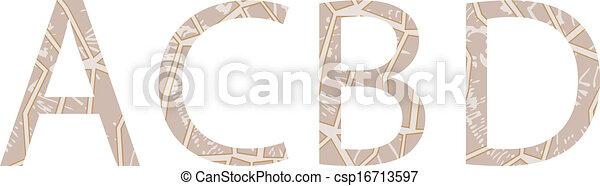Las letras del alfabeto pintadas con estilo étnico - csp16713597