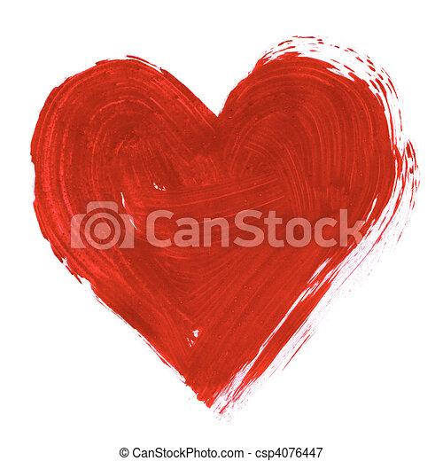 Corazón pintado - csp4076447