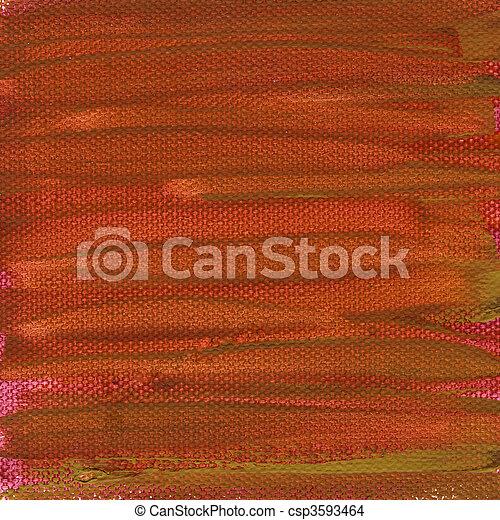 pintado, lona, vermelho, textura - csp3593464