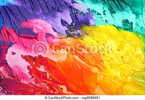 pintado, resumen, acrílico, plano de fondo - csp8089451