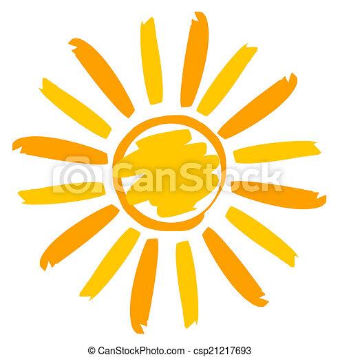 pintado, sol, ilustração - csp21217693