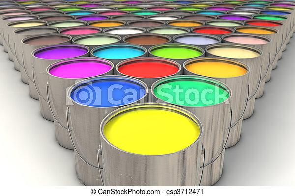 pintar latas - csp3712471