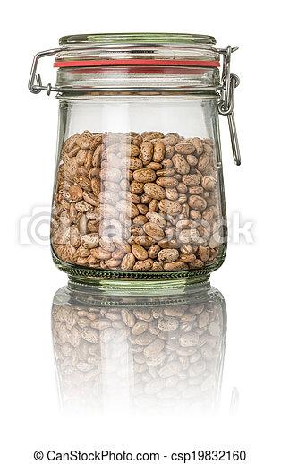Pinto beans in a jar - csp19832160