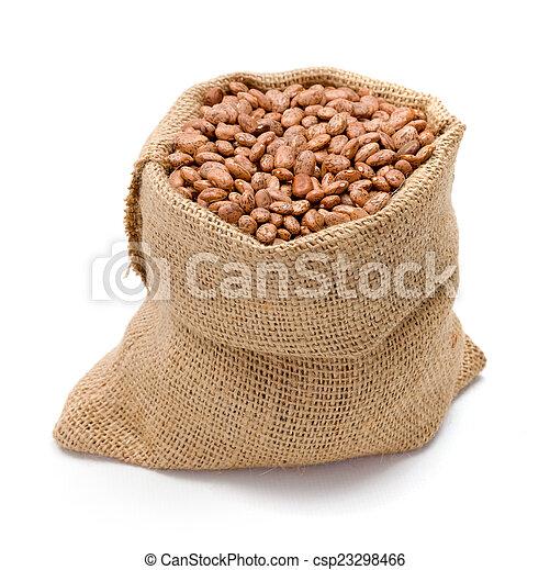 Pinto beans in burlap bag - csp23298466
