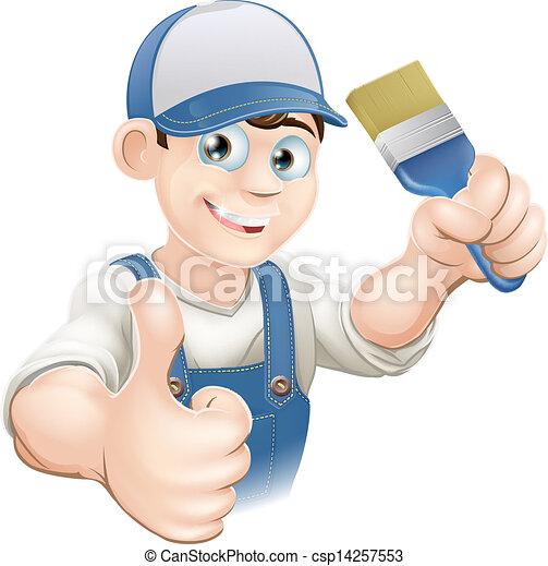 Pintor de cartón - csp14257553